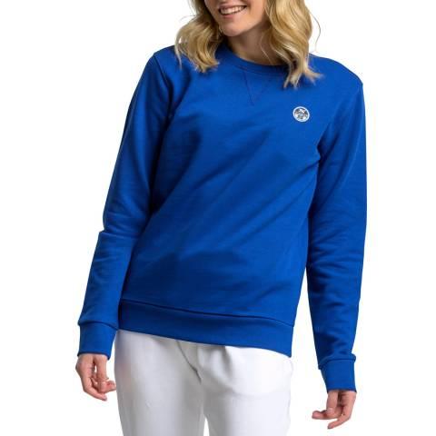 NORTH SAILS Blue Logo Cotton Sweatshirt