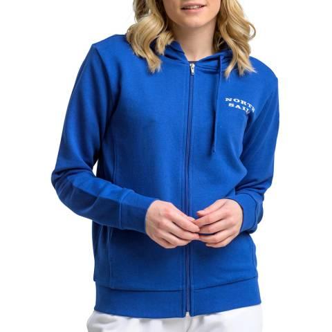 NORTH SAILS Blue Hooded Cotton Sweatshirt