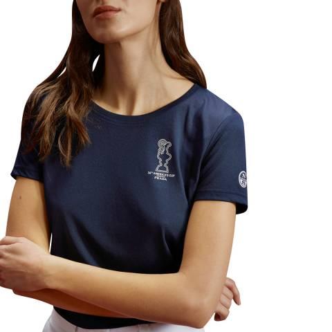 AC36 BY PRADA Navy Prada Cup Logo T-Shirt