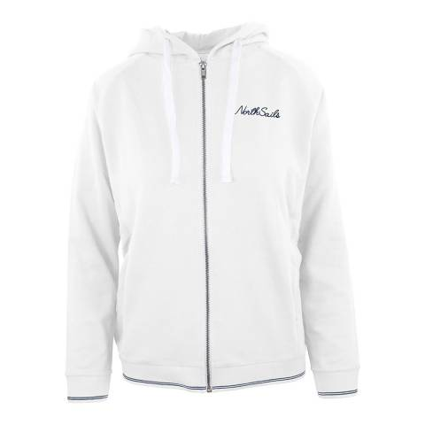 NORTH SAILS White Hooded Cotton Sweatshirt