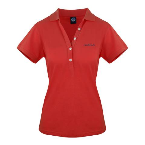 NORTH SAILS Red Cotton Polo Shirt