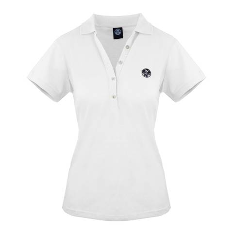 NORTH SAILS White Cotton Polo Shirt