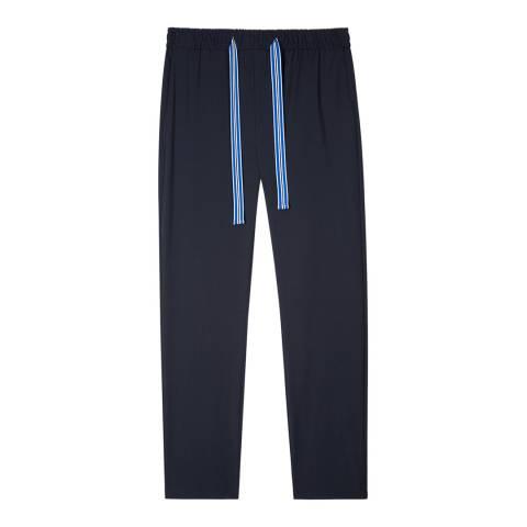 PAUL SMITH Navy Striped Drawstring Sweatpants
