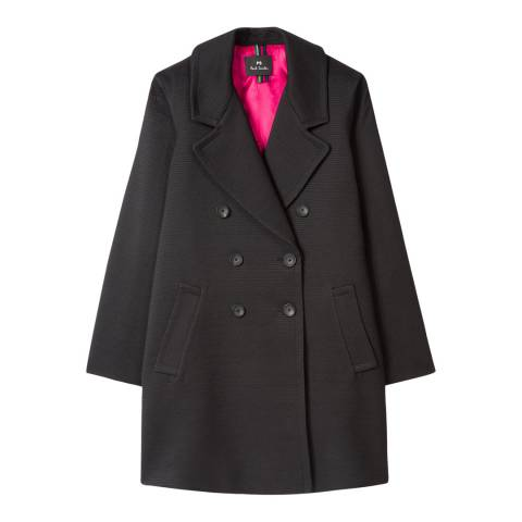 PAUL SMITH Black Cotton Lined Coat