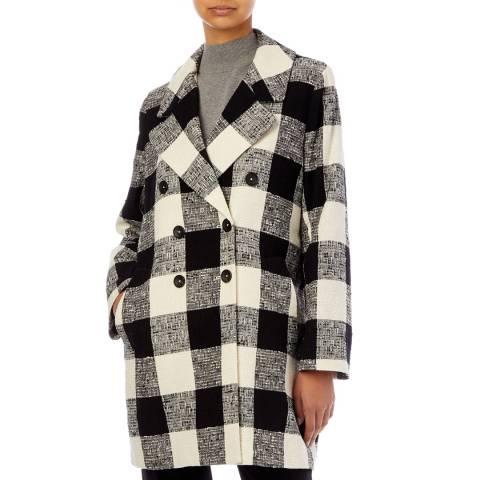 PAUL SMITH Black Check Cotton Coat