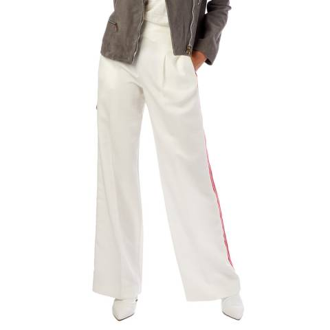PAUL SMITH Ivory Wide Leg Suit Trousers
