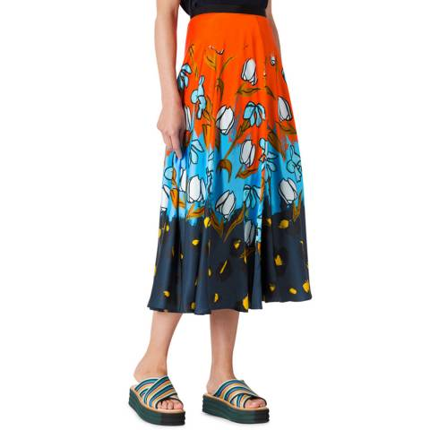 PAUL SMITH Multi Pained Floral Skirt