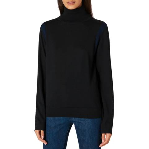 PAUL SMITH Black Turtleneck Wool Jumper