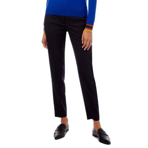 PAUL SMITH Navy Wool Suit Trosuers
