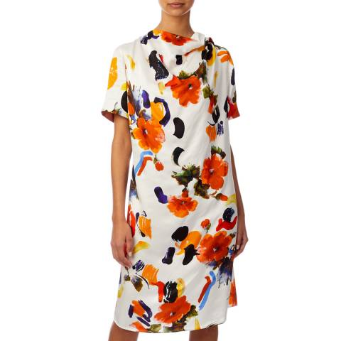 PAUL SMITH Multi Floral Draped Dress