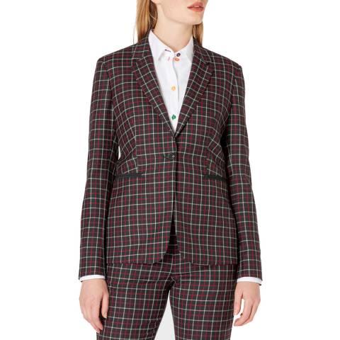 PAUL SMITH Multi Check Wool Blazer