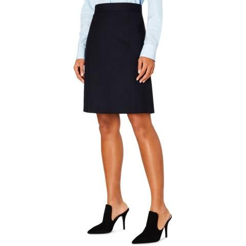 PAUL SMITH Navy Wool Skirt