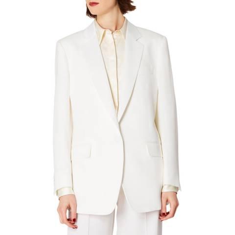 PAUL SMITH Ivory Wool Tuxedo Blazer