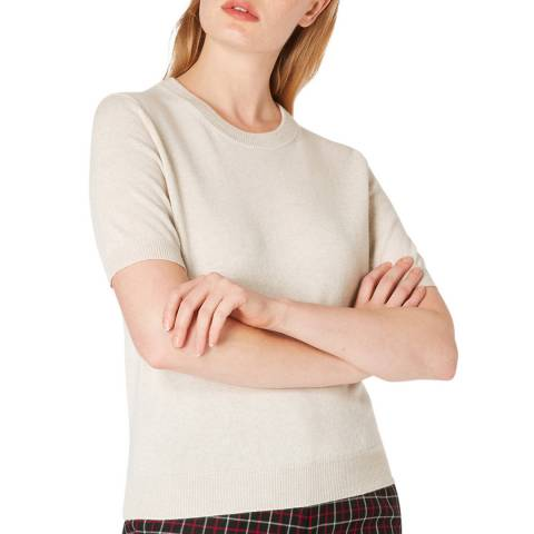 PAUL SMITH Ecru Short Sleeve Sweater