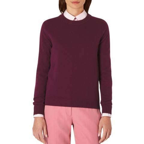 PAUL SMITH Burgundy Damson Cashmere Sweater