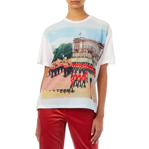 PAUL SMITH White London Printed T-Shirt