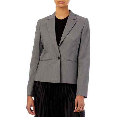 PAUL SMITH Grey Ruffle Wool Blend Jacket
