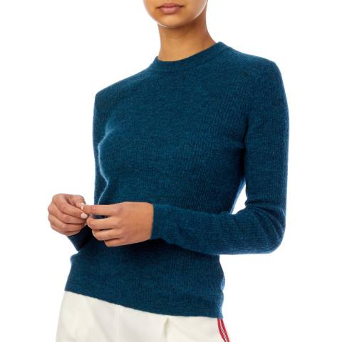 PAUL SMITH Blue Knit Jumper