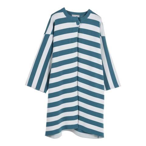 STEFANEL Blue/White Striped Dress