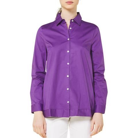STEFANEL Purple Button Down Shirt
