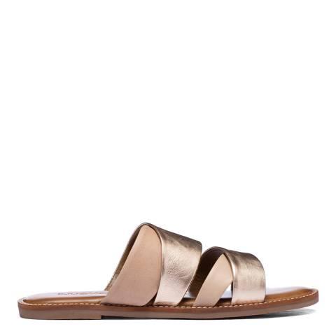 Inuovo Visone Leather Flat Sandals
