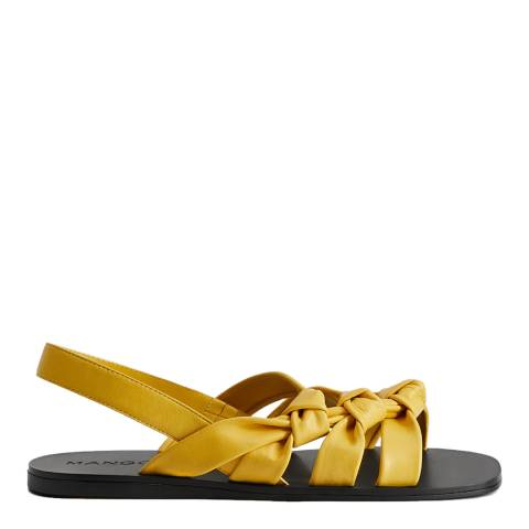 Mango Yellow Marini Knots Sandals