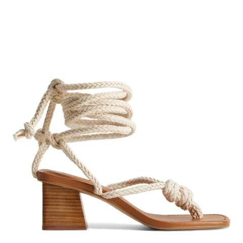 Mango Ecru Cord Interwoven Sandals
