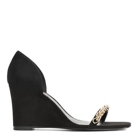 Mango Black Brooklyn Wedge Sandals