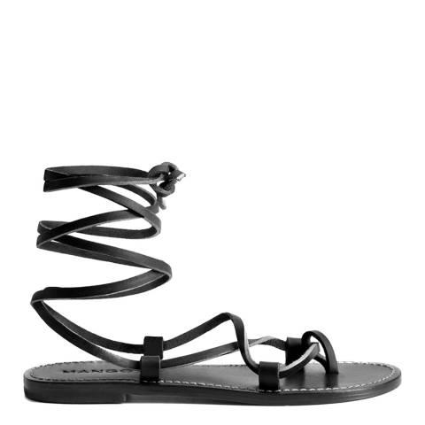 Mango Black Ibiza Strap Sandals
