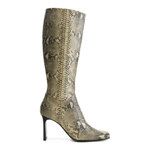 Mango Forest Green Spice Heeled Boots