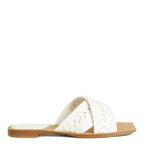 Mango White Drew Braided Sandals
