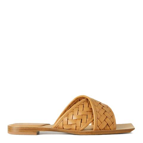 Mango Brown Drew Braided Sandals