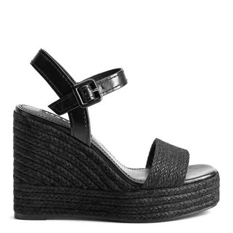 Mango Black Piaf Wedge Sandals