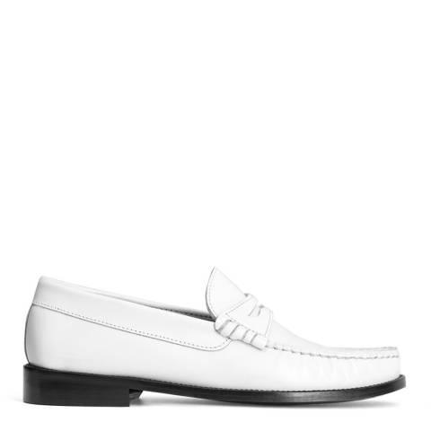 Mango White Ted Leather Moccasin