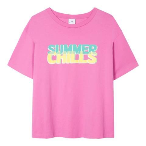 PAUL SMITH Pink Summer Cotton T-Shirt