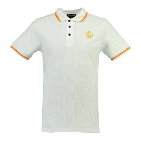 Geographical Norway White Cotton Polo Shirt
