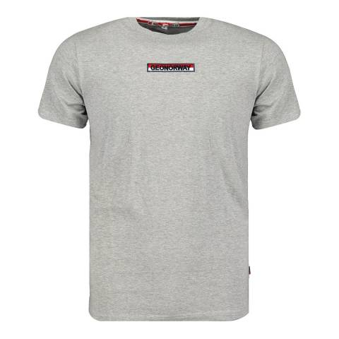 Geographical Norway Grey Cotton T-Shirt