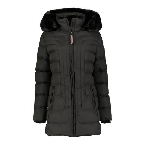 Geographical Norway Black Removable Hooded Parka