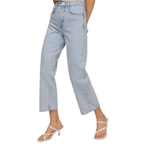 Mango Light Wash Culotte Cotton Jean
