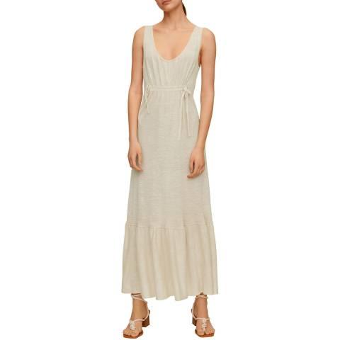 Mango Beige Linen Maxi Dress
