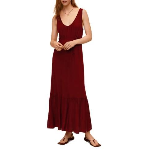 Mango Red Linen Maxi Dress