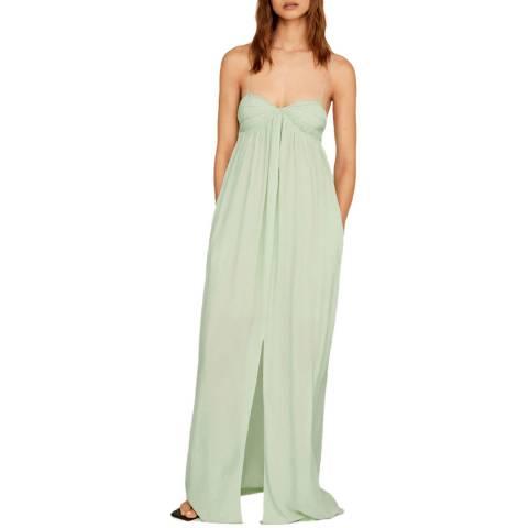 Mango Mint Green Flowy Maxi Dress
