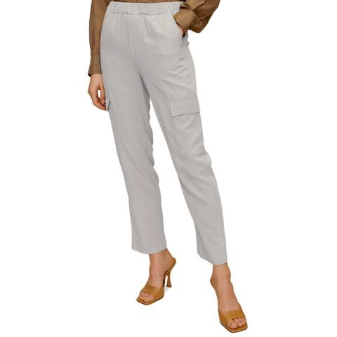 Mango Light Grey Straight Leg Trouser