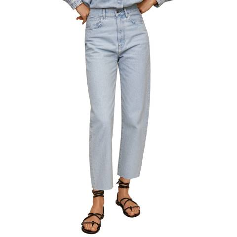 Mango Light Blue Cotton Jean