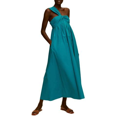 Mango Emerald Green Cotton Maxi Dress