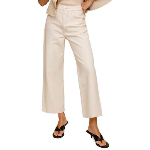 Mango Ecru Cotton Jean