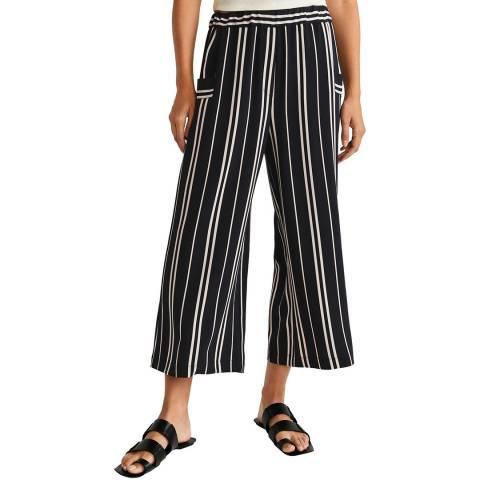 Mango Black Stripe Culotte Trouser