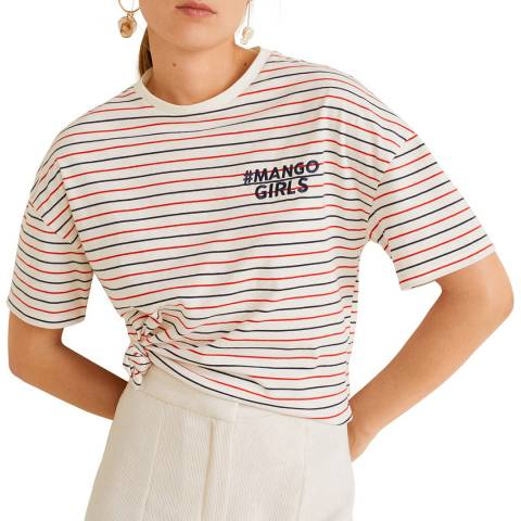Mango Multi Stripe Cotton Tshirt