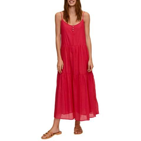 Mango Fusia Cotton Blend Maxi Dress