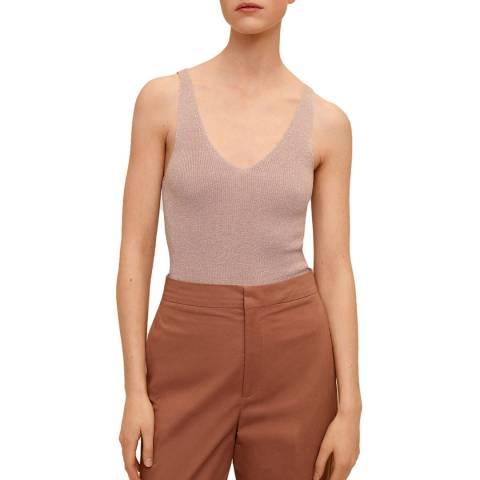 Mango Pink Metallic Sleeveless Top